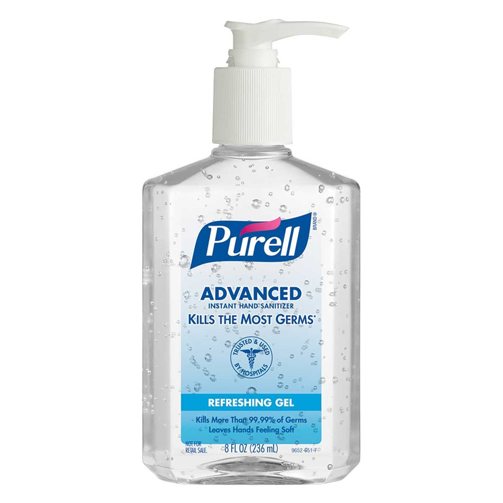 Purell 8 Oz Advanced Hand Sanitizer 12 Units