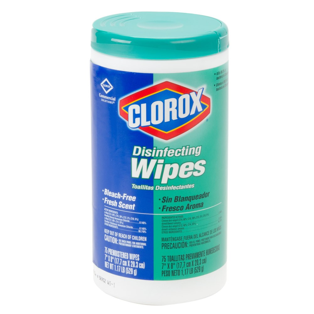 Clorox Disinfecting Wipes 75 Wipes Each - 6 Units