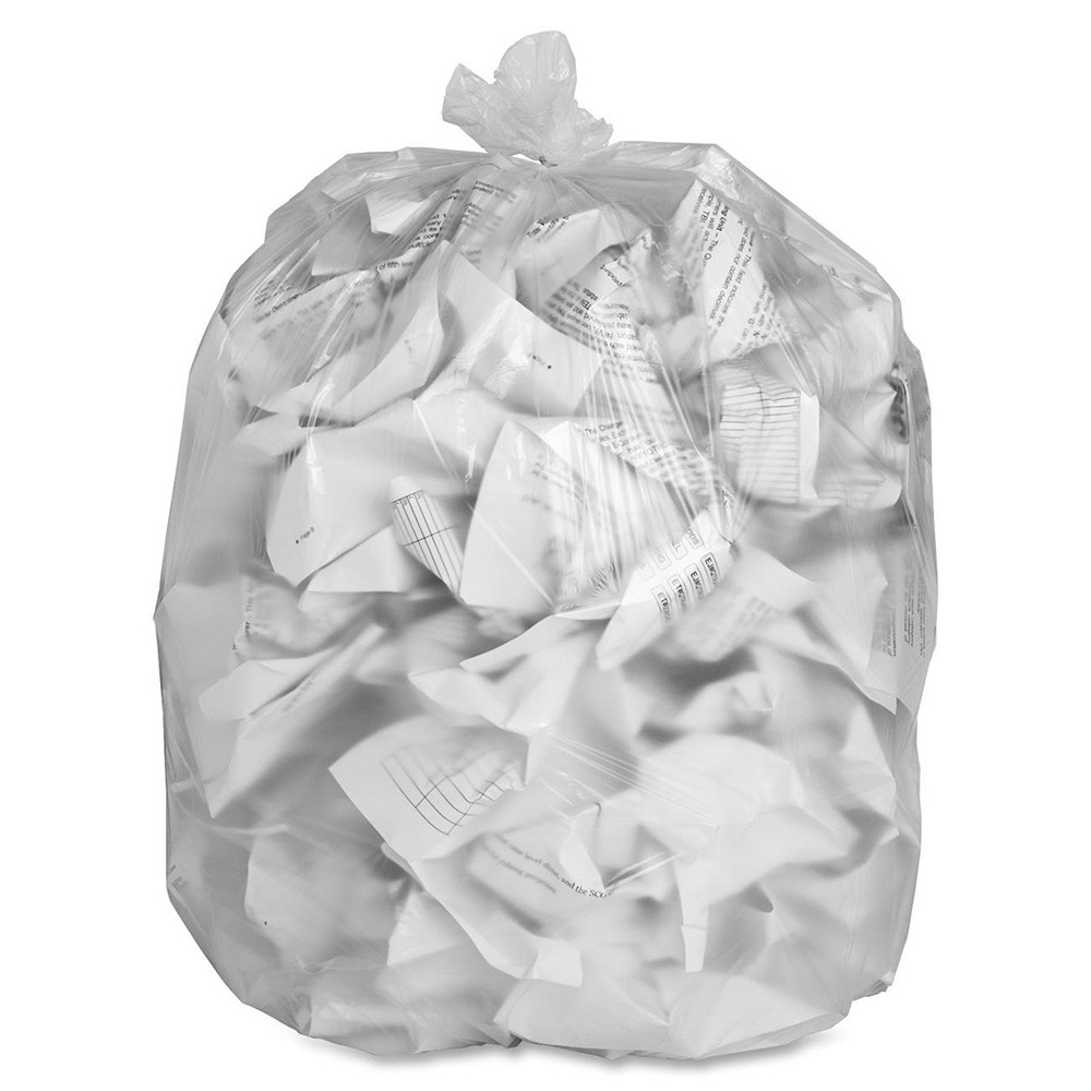 "TOTALPACK® 40 x 48"" 40-45 Gallons 12 Mic Garbage Bags Clear 250 Units"