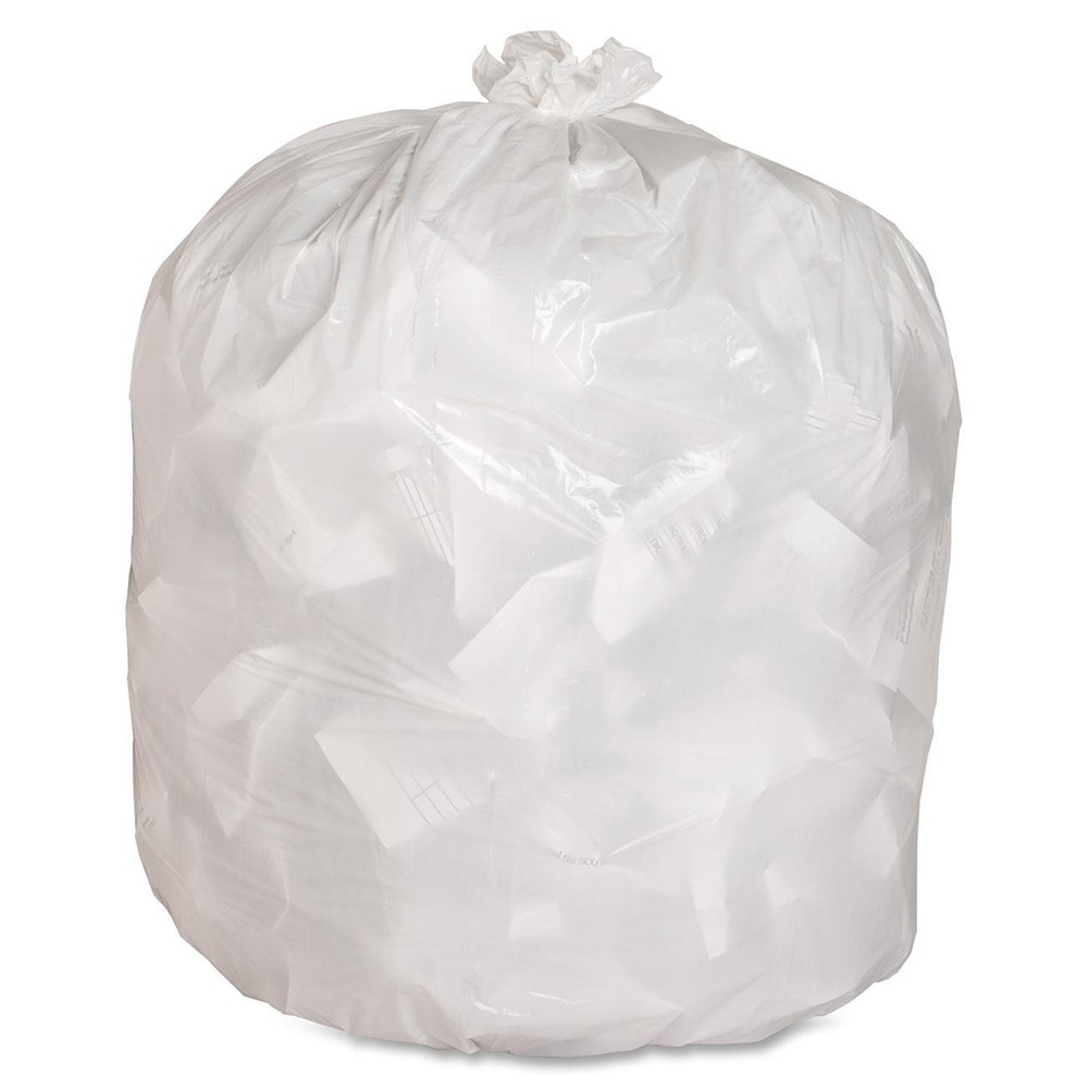 "TOTALPACK® 24 x 32"" 12-16 Gallons 8 Mic Garbage Bags White 500 Units"
