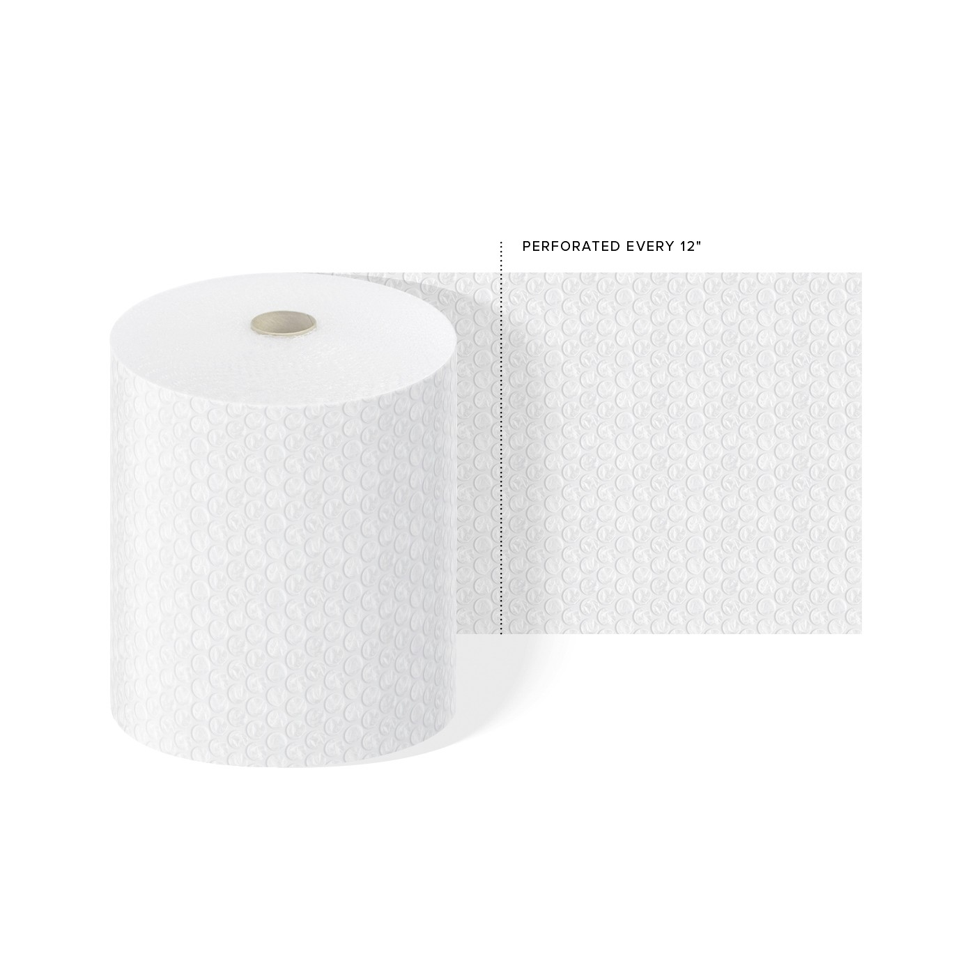 "TOTALPACK® 1/2"" x 12"" x 65' Perforated Every 12"", Air Bubble 1 Roll"
