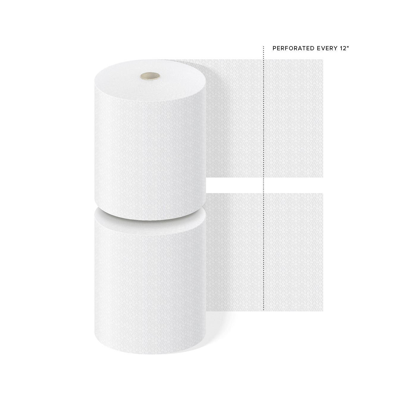 "TOTALPACK® 5/16"" x 24"" x 188' Perforated Every 12"", Air Bubble 2 Rolls"