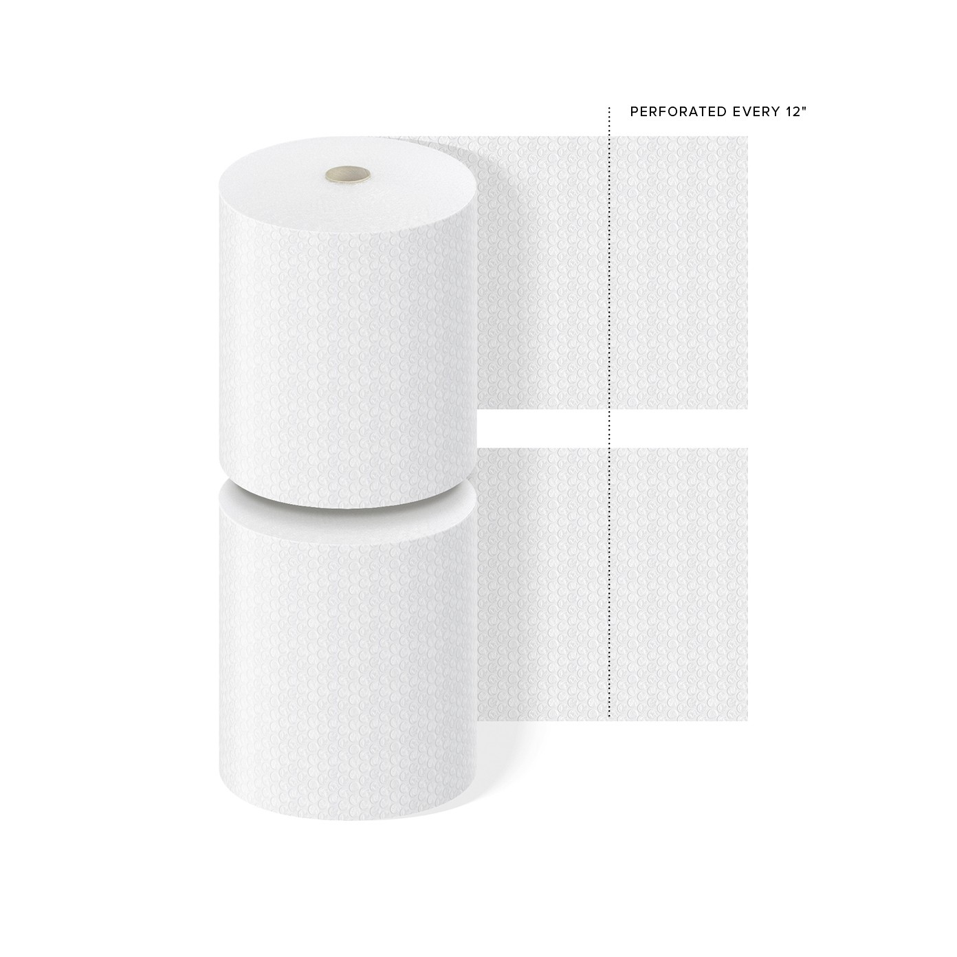 "TOTALPACK® 1/2"" x 24"" x 250' Perforated Every 12"", Air Bubble 2 Rolls"