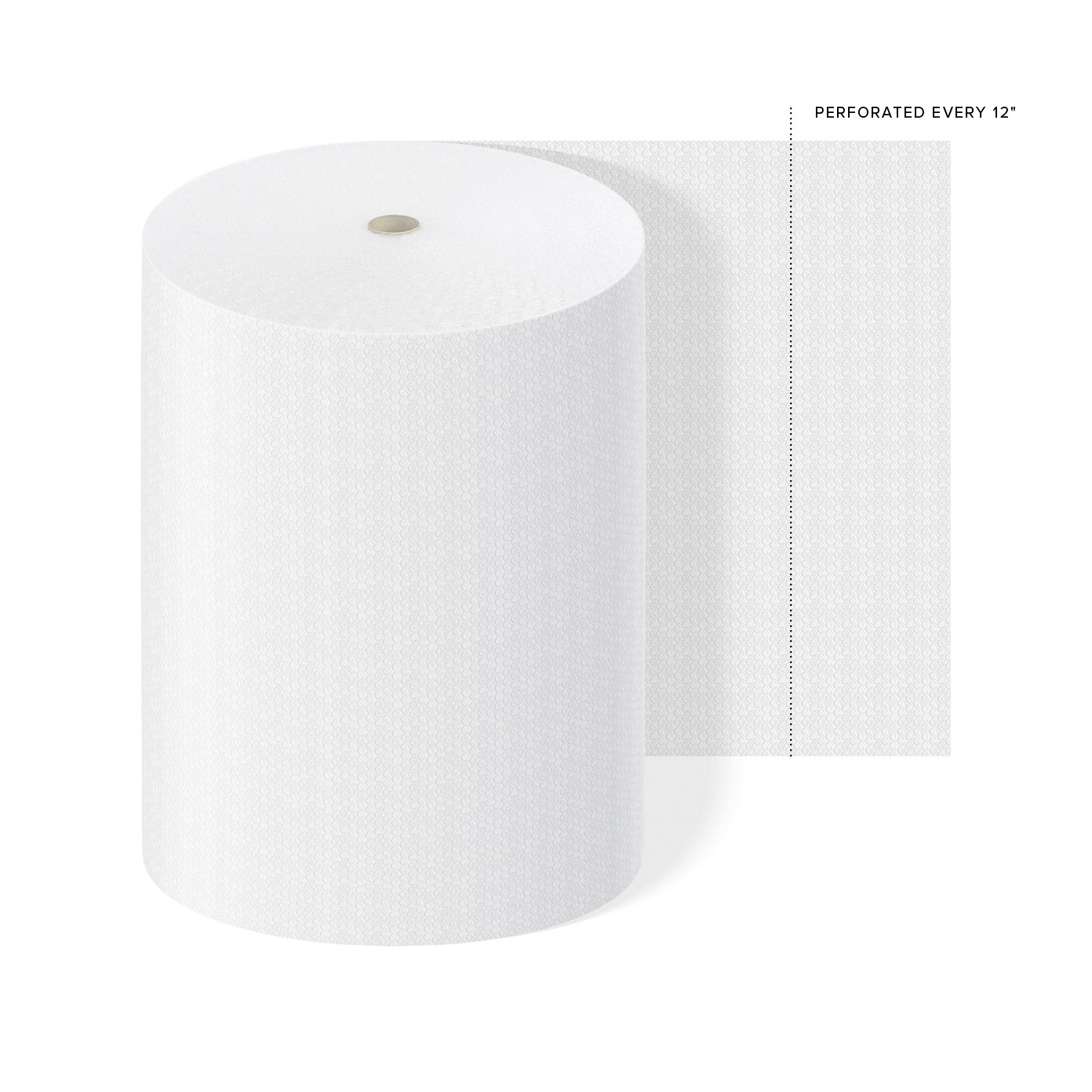 "TOTALPACK® 3/16"" x 48"" x 500' Perforated Every 12"", Air Bubble 1 Roll"