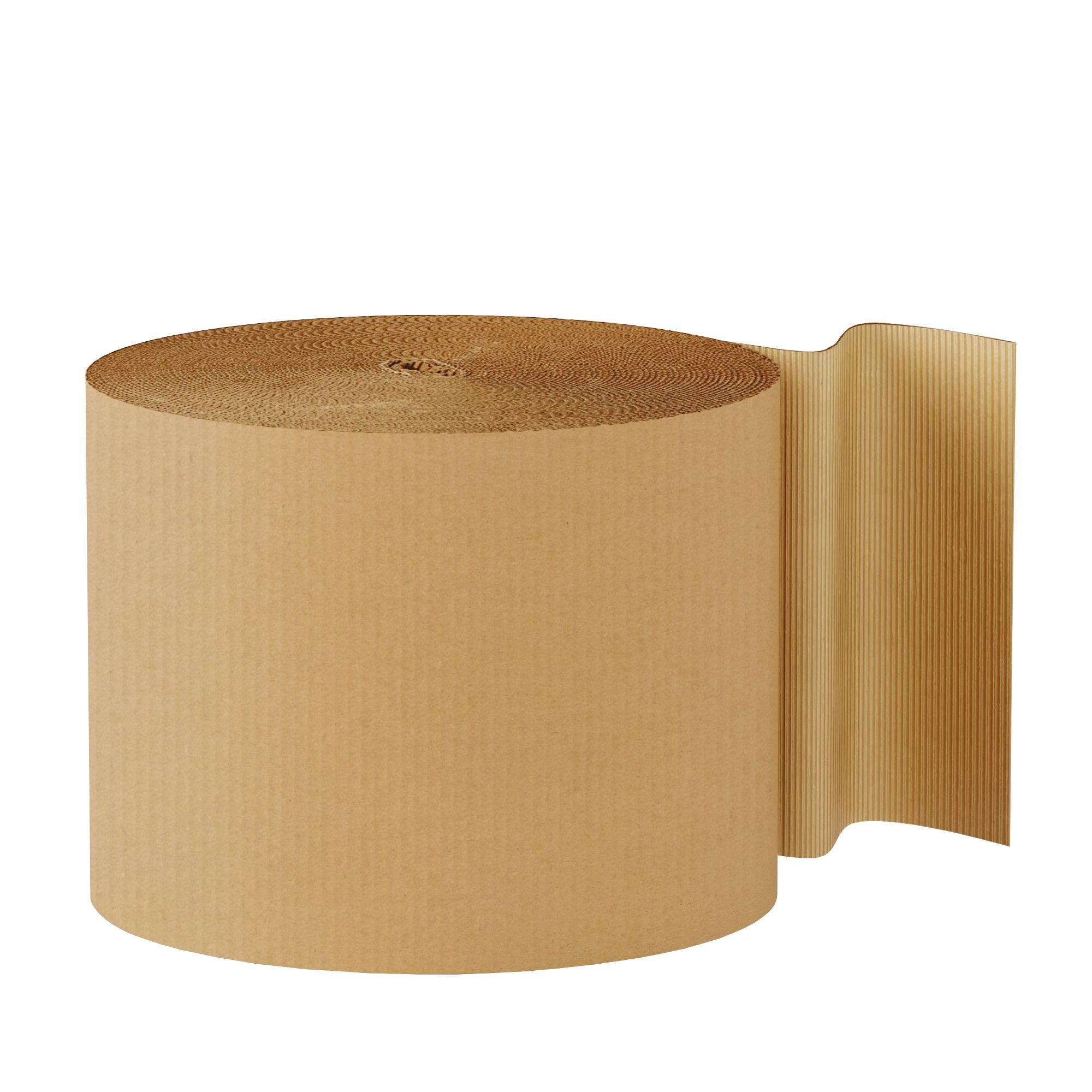 "TOTALPACK® 24"" x 250' - Kraft Singleface Corrugated 1 Roll"