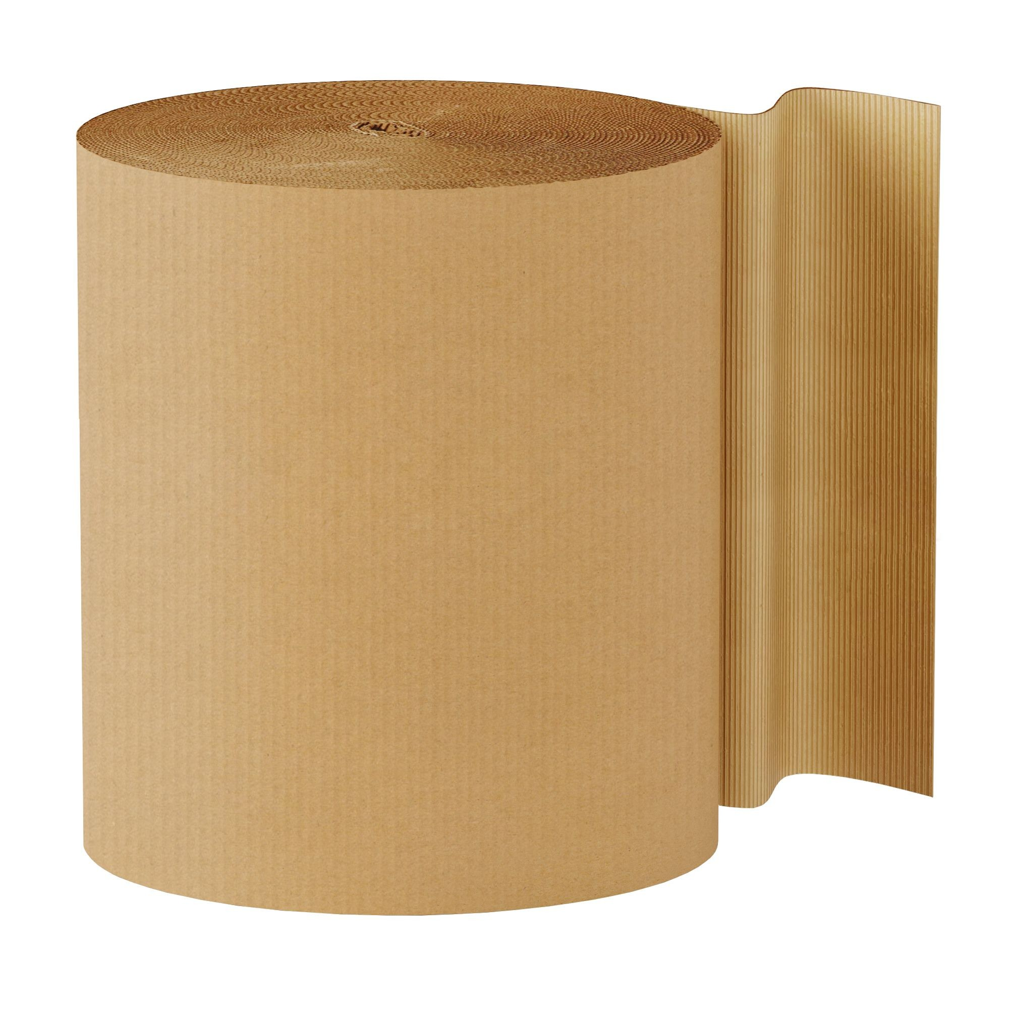 "TOTALPACK® 30"" x 250' - Kraft Singleface Corrugated 1 Roll"