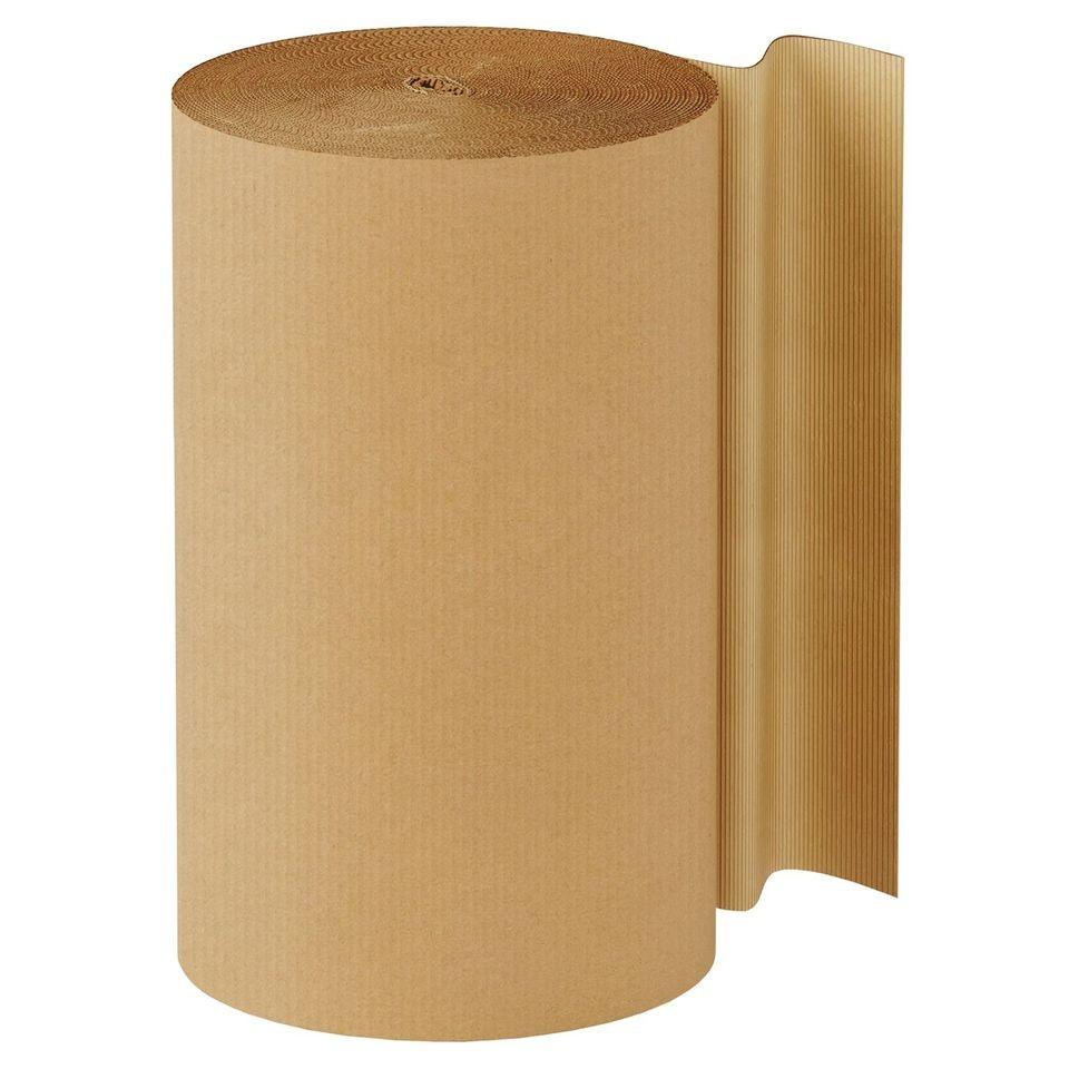 "TOTALPACK® 60"" x 250' - Kraft Singleface Corrugated 1 Roll"