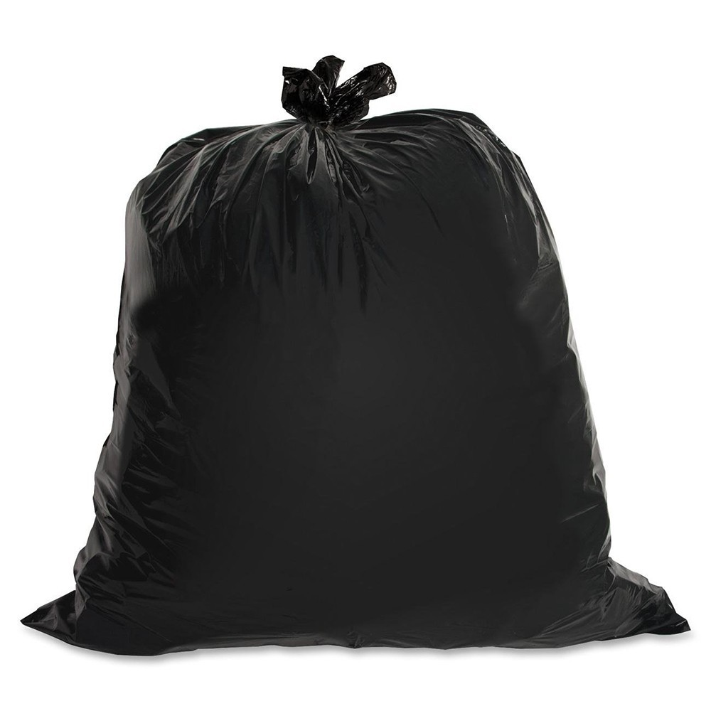"TOTALPACK® 40 x 46"" 40-45 Gallons 1.2 Mil Garbage Bags Black 100 Units"