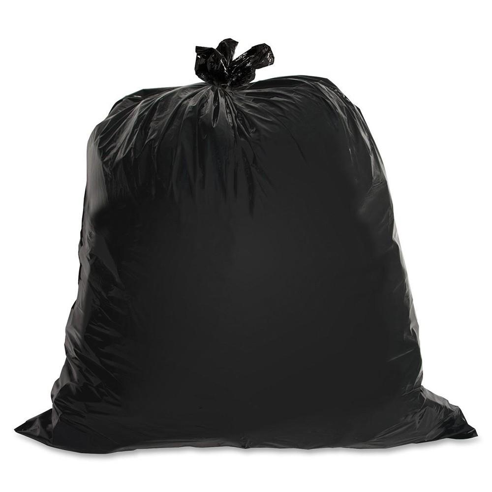 "TOTALPACK® 40 x 46"" 40-45 Gallons 2.0 Mil Garbage Bags Black 100 Units"