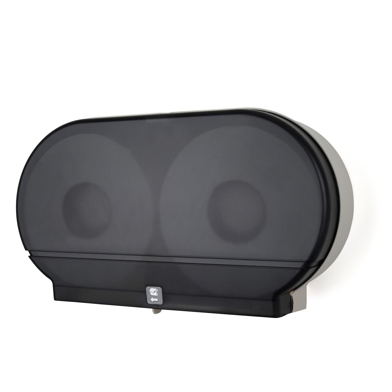 TOTALPACK® Twin Jumbo Tissue Dispenser Smoke Black