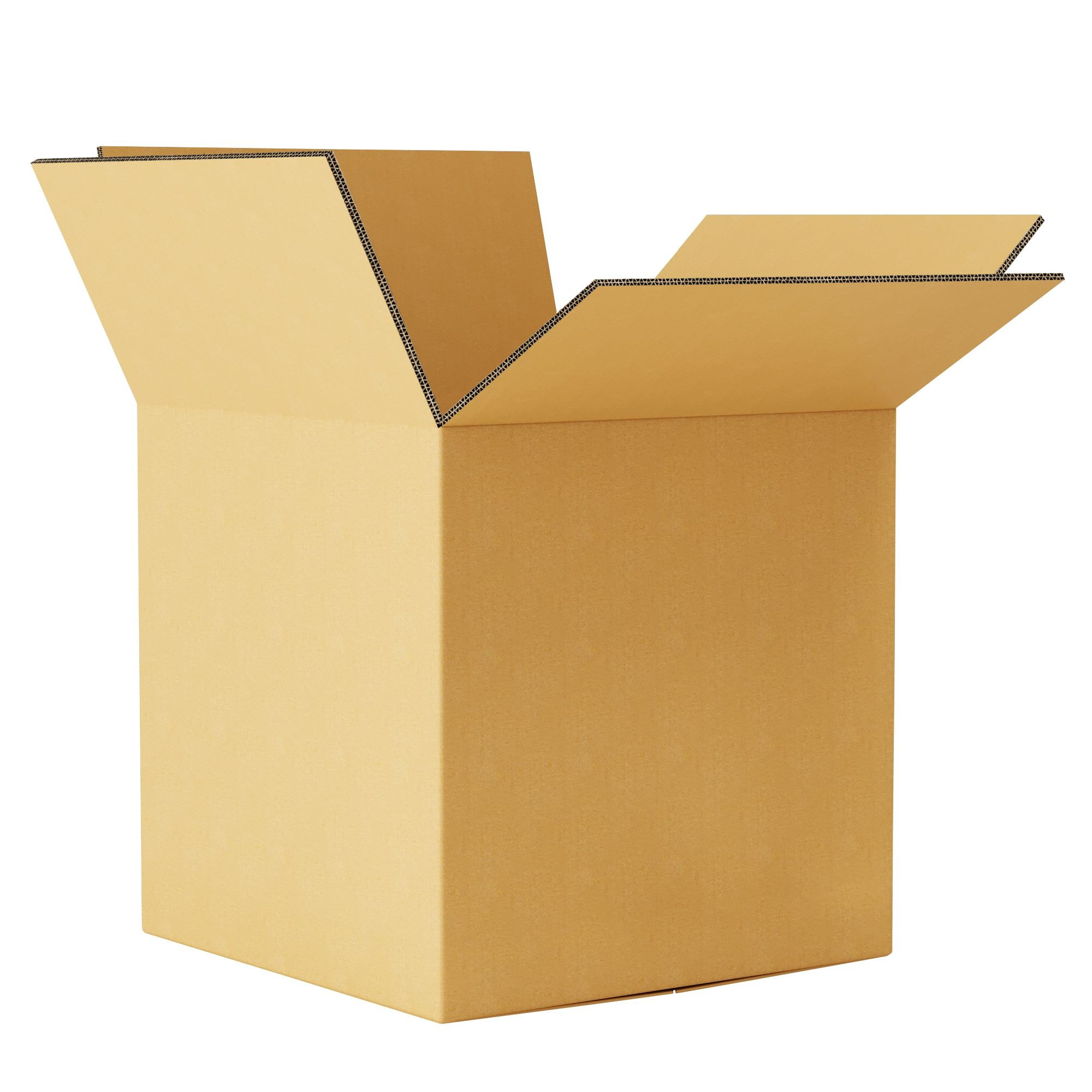 """TOTALPACK® 24 x 24 x 24"""" Double Wall Corrugated """"Printed This Side Up"""" Boxes 15 Units"""