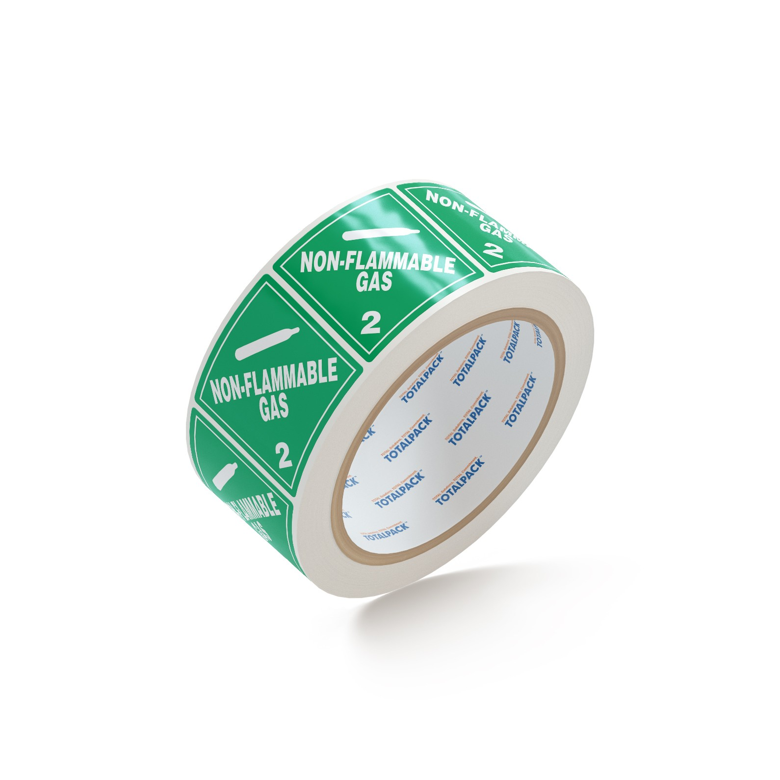 """TOTALPACK® 4 x 4"""" - """"Non Flamable Gas"""" 500 Labels Per Roll"""