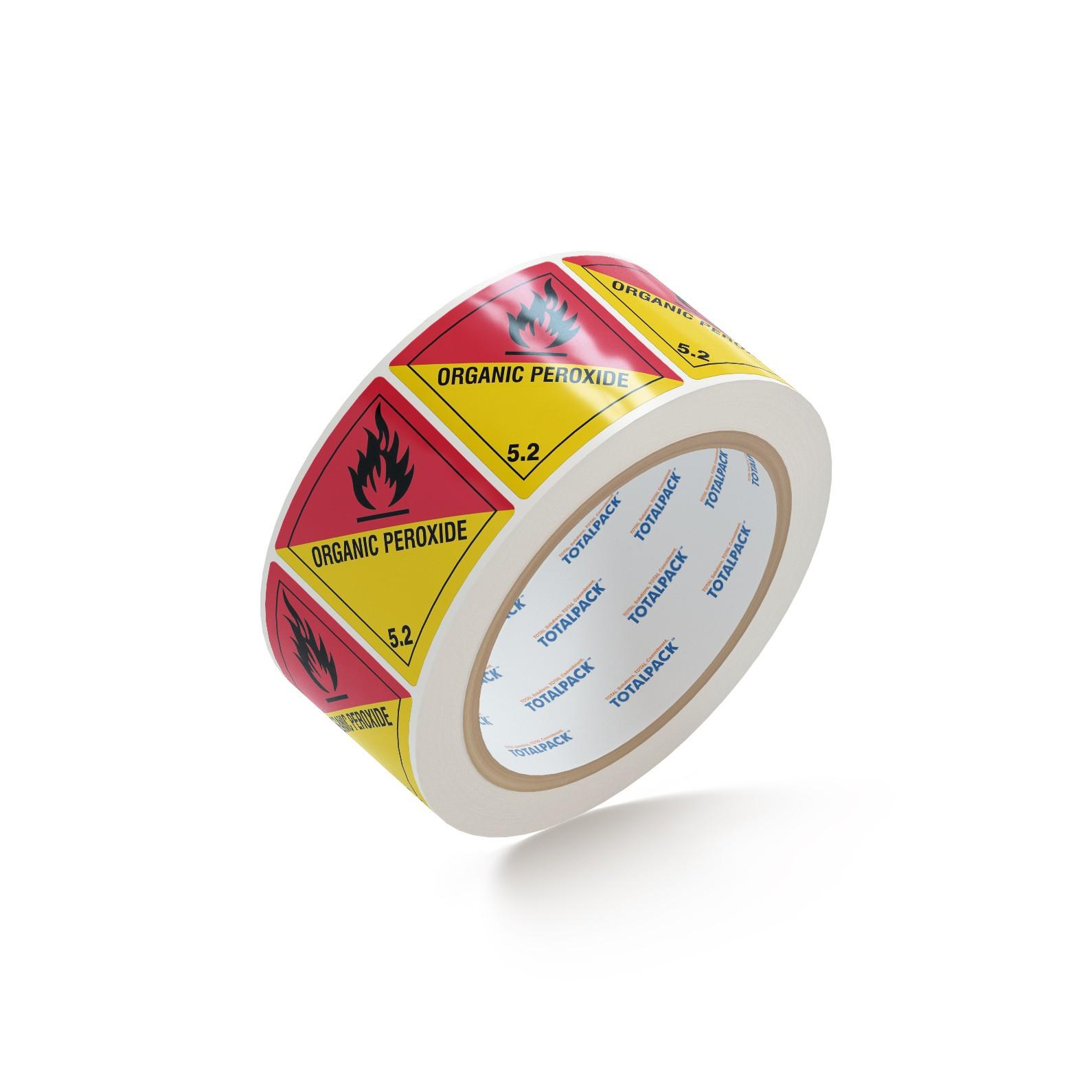 "TOTALPACK® 4 x 4"" - ""Organic Peroxide"" 5.2 500 Labels Per Roll"