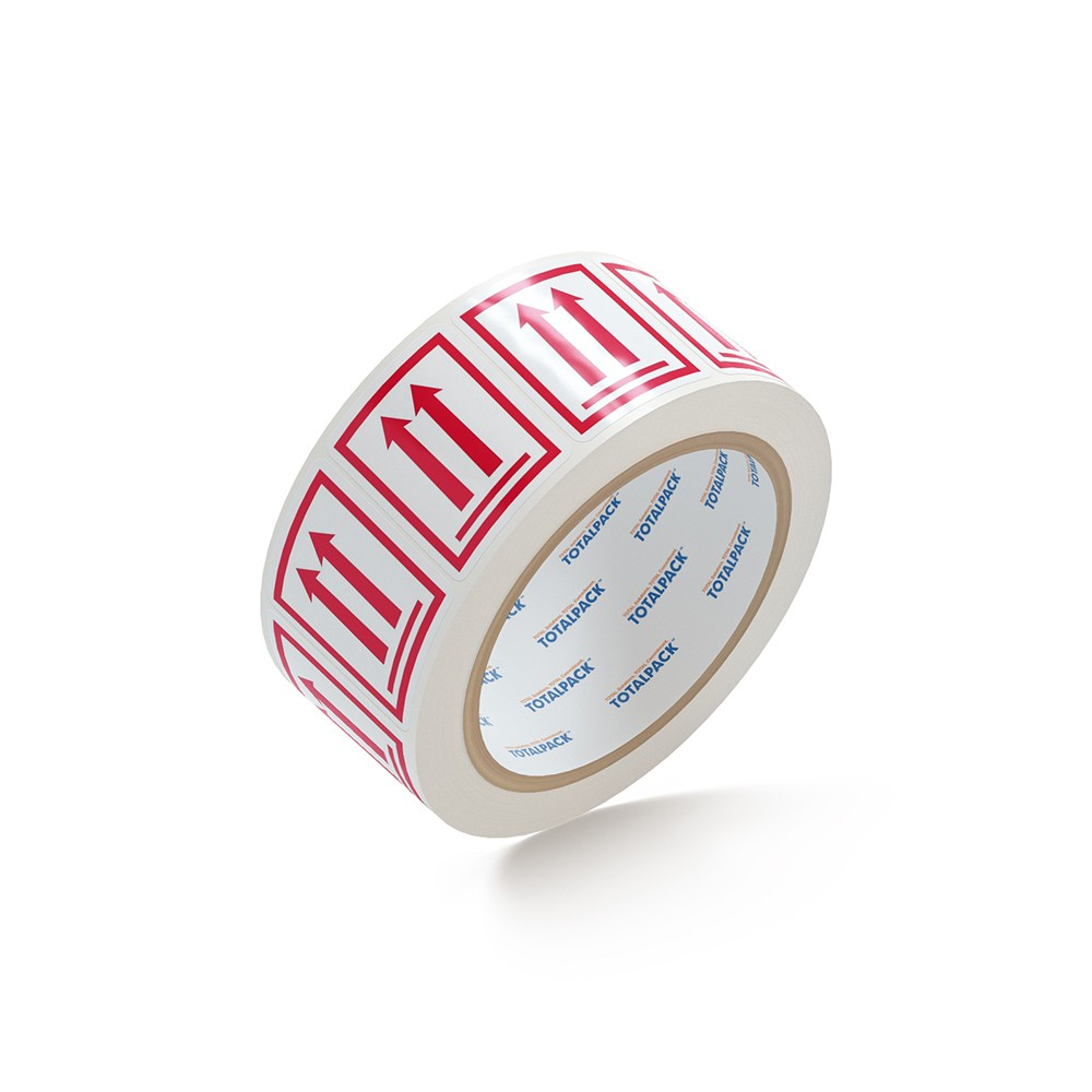 """TOTALPACK® 3 x 4"""" - Label Two Arrows Red 500 Labels Per Roll"""