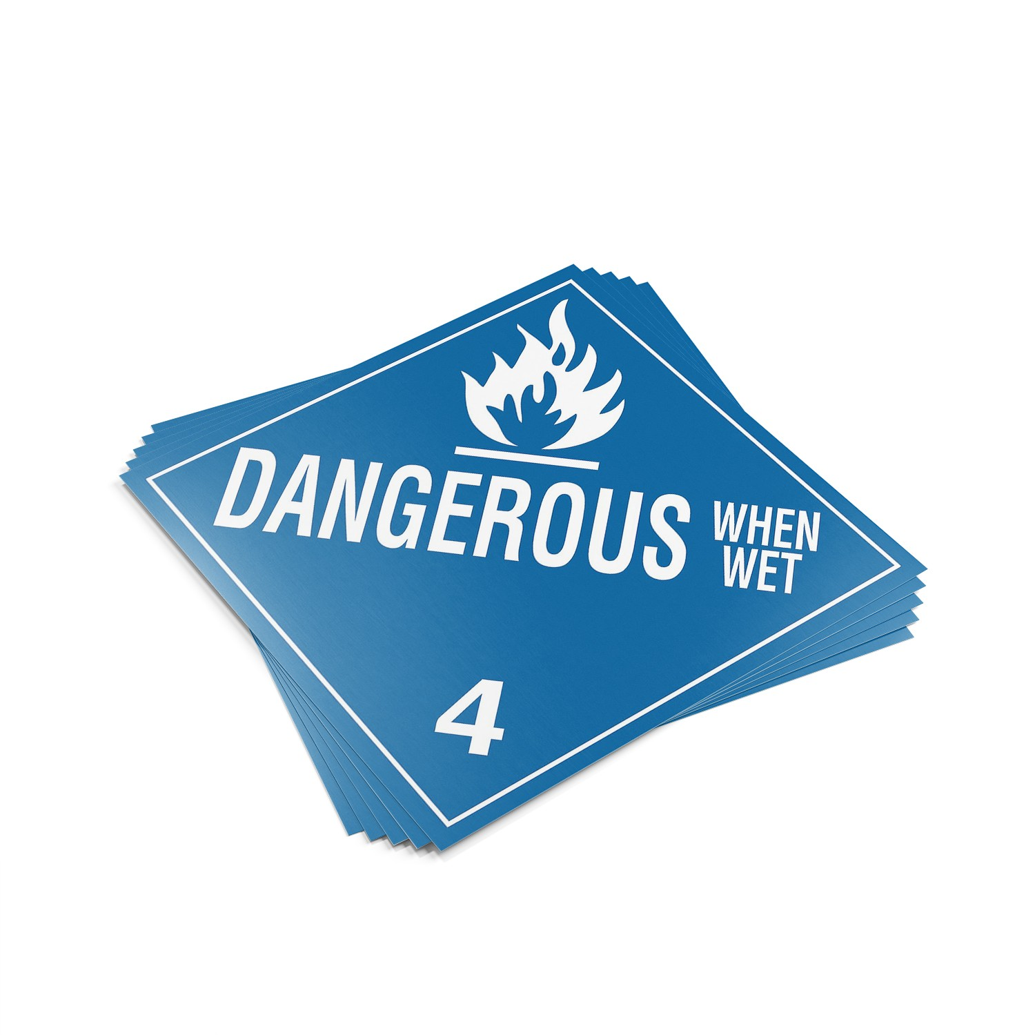 "TOTALPACK® 10 3/4 x 10 3/4"" - Placard ""Dangerous When Wet"" 25 Units"