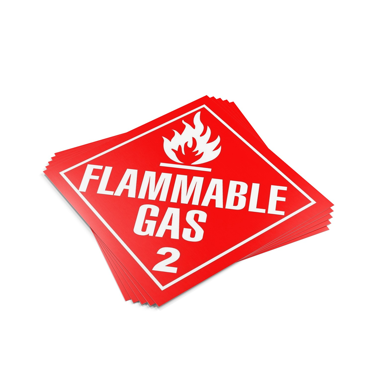 "TOTALPACK® 10 3/4 x 10 3/4"" - Placard ""Flammable Gas #2"" 25 Units"