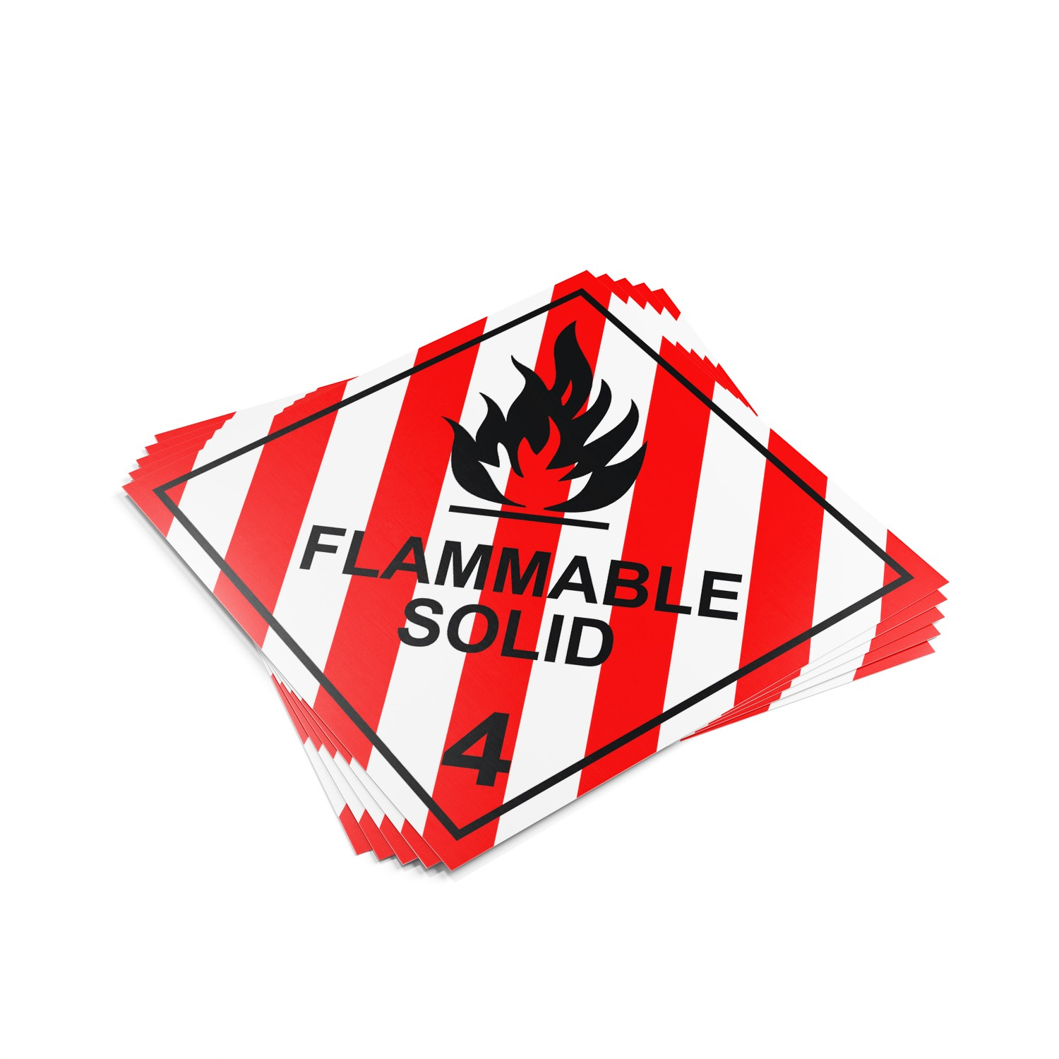 "TOTALPACK® 10 3/4 x 10 3/4"" - Placard ""Flammable Solid #4"" 25 Units"