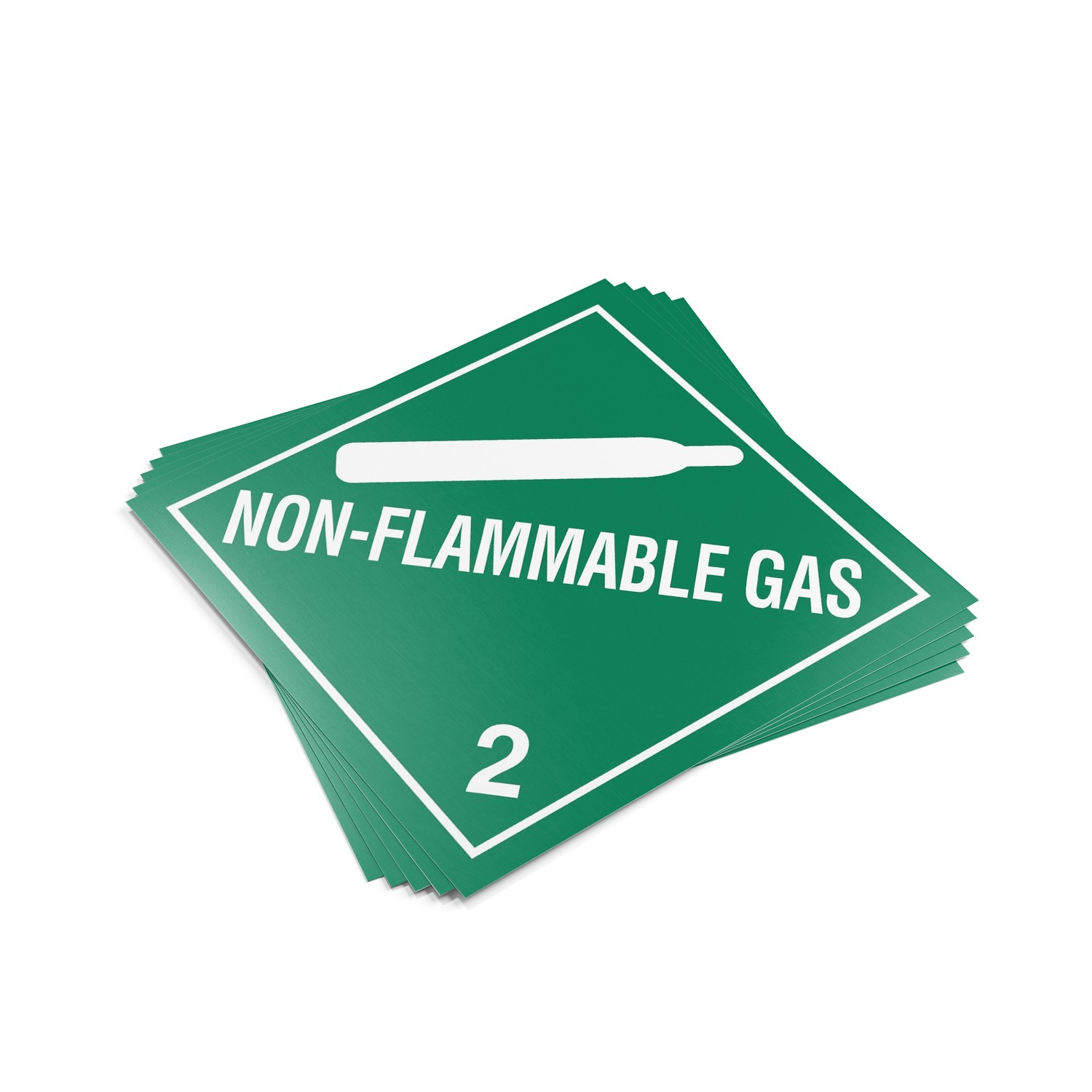 "TOTALPACK® 10 3/4 x 10 3/4"" - Placard ""Non Flamable Gas #2"" 25 Units"