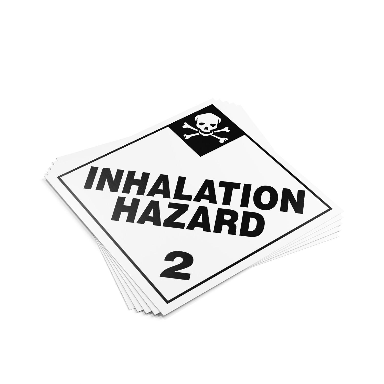 """TOTALPACK® 10 3/4 x 10 3/4"""" - Placard """"Inhalation Hazard #2"""" 25 Units"""