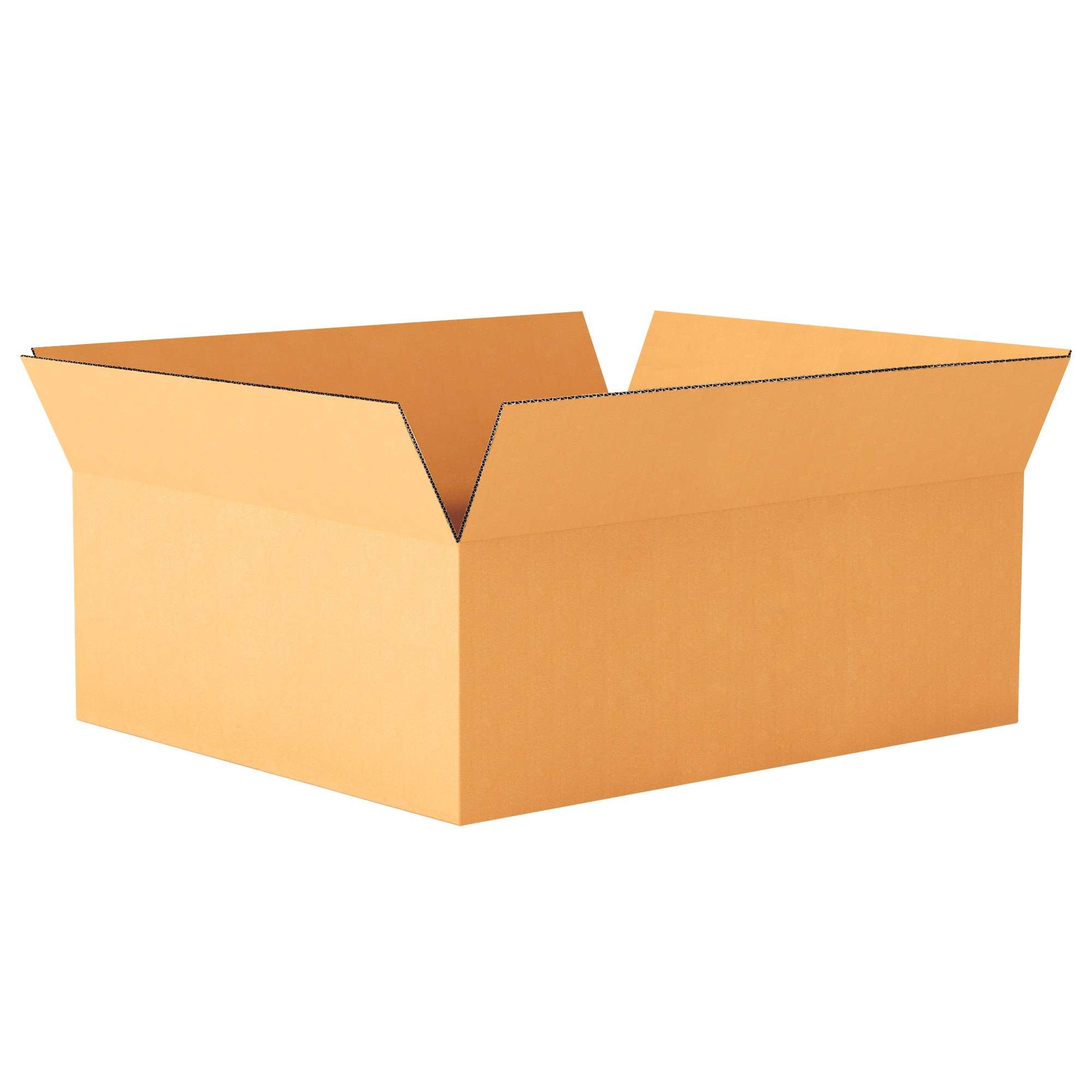 "TOTALPACK® 24 x 18 x 18"" Single Wall Corrugated Laydown Boxes 15 Units"