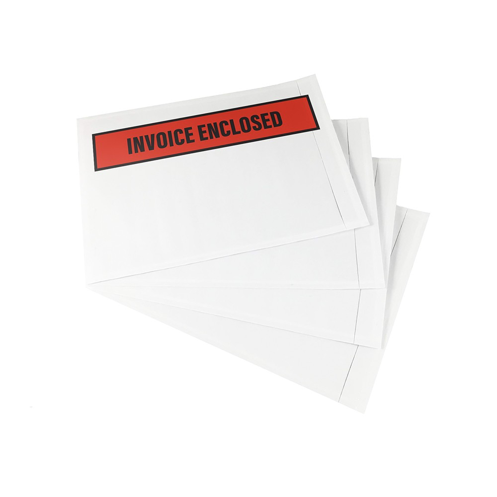 "TOTALPACK® 4.5 x 5.5"" ""Printed Invoice Enclosed"" (Panel Face) Envelopes 1000 Per Case"
