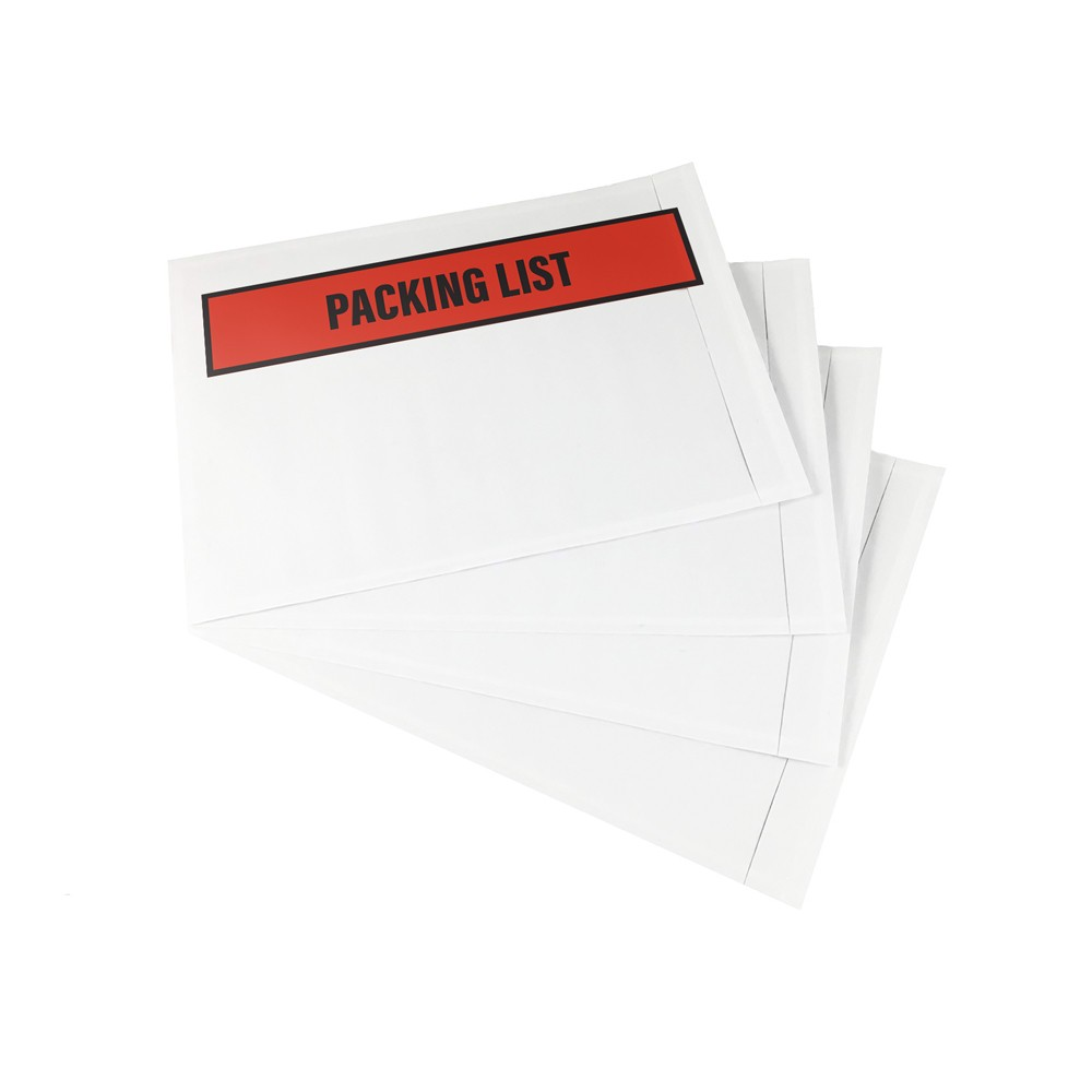 "TOTALPACK® 5.5 x 10"" ""Printed Packing List"" (Panel Face) Envelopes 1000 Per Case"