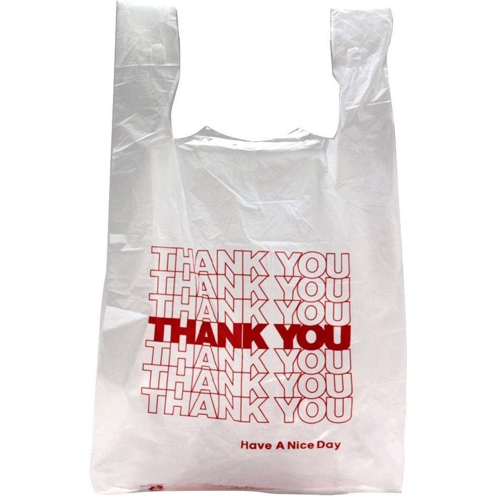 """TOTALPACK® 12 x 6.5 x 20"""" Thank You Shopping Poly Bags 900 Units"""