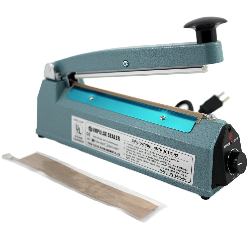 "8"" Impulse Sealer, 5 Mil (Cutter is included) 1 Unit"