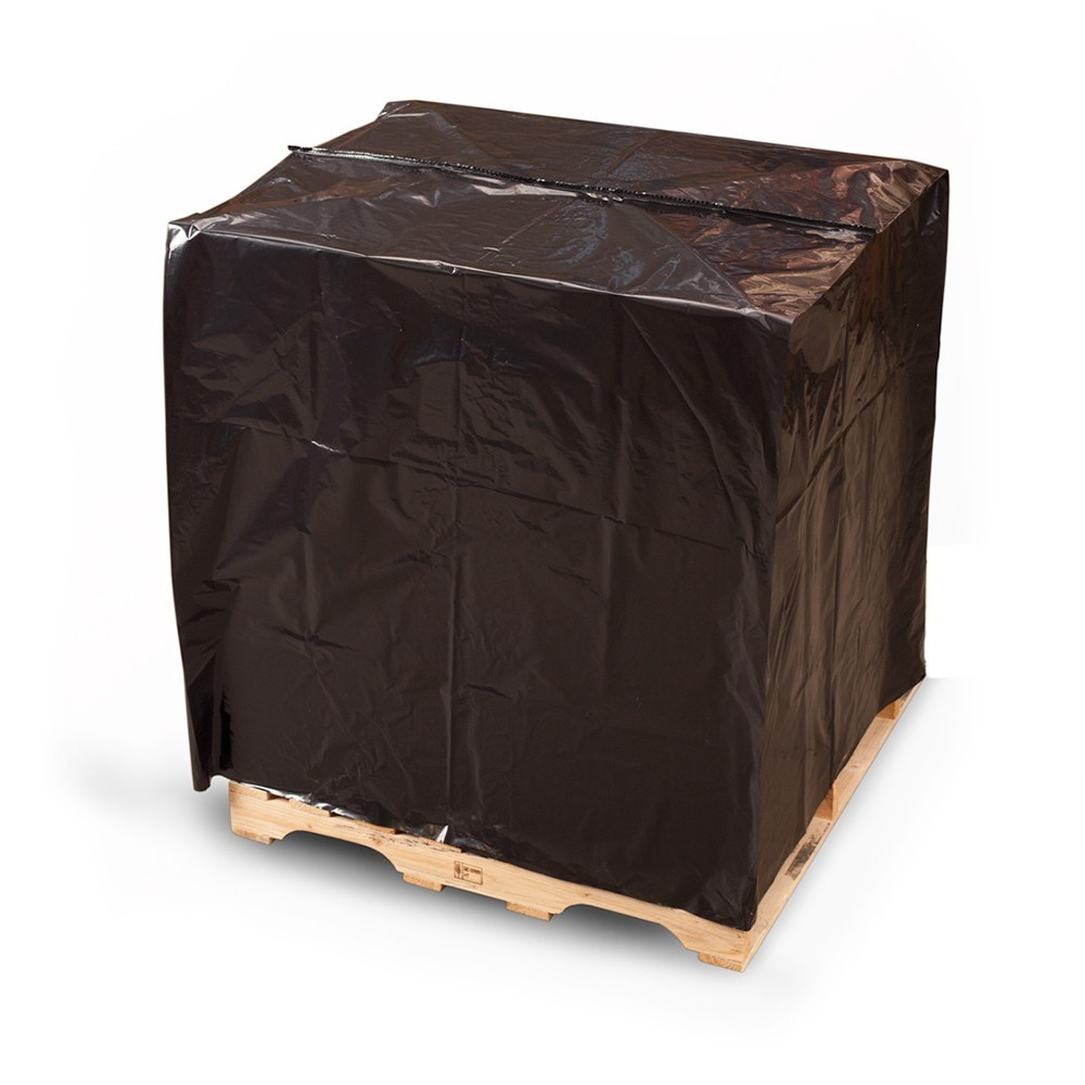 "TOTALPACK® 52 x 42 x 72"" - 1 Mil Pallet Covers ""Small"" Black 100 per Roll"