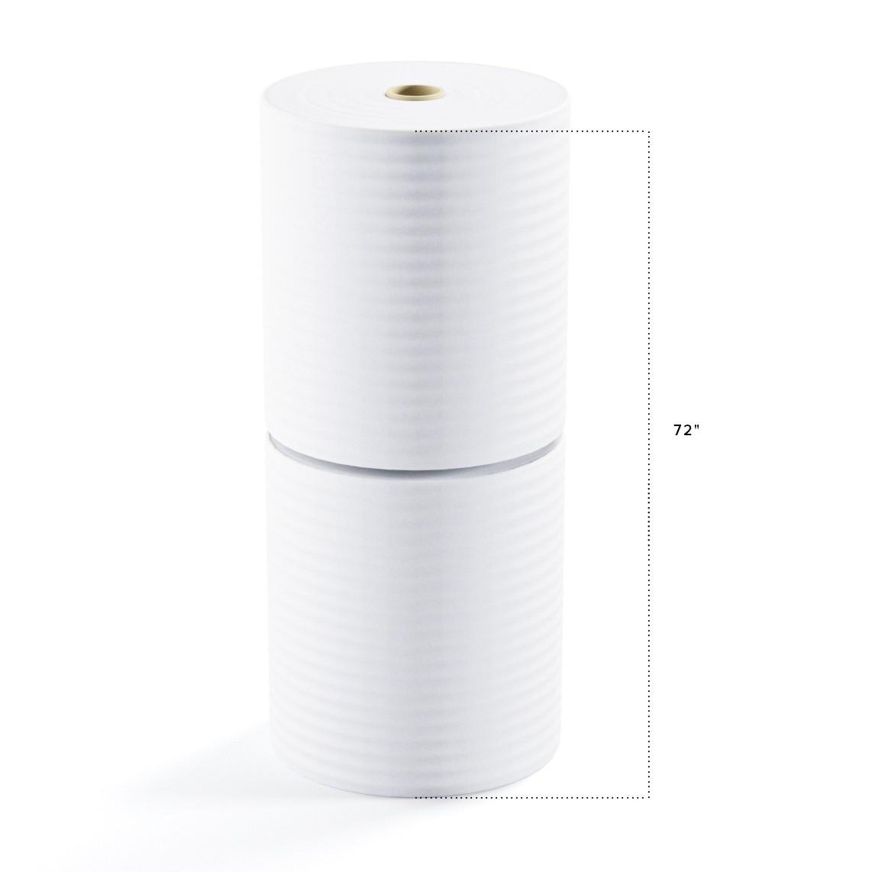 """TOTALPACK® 1/4"""" x 72"""" x 250' (No Perforation) Air Foam Rolls, 2 Rolls"""