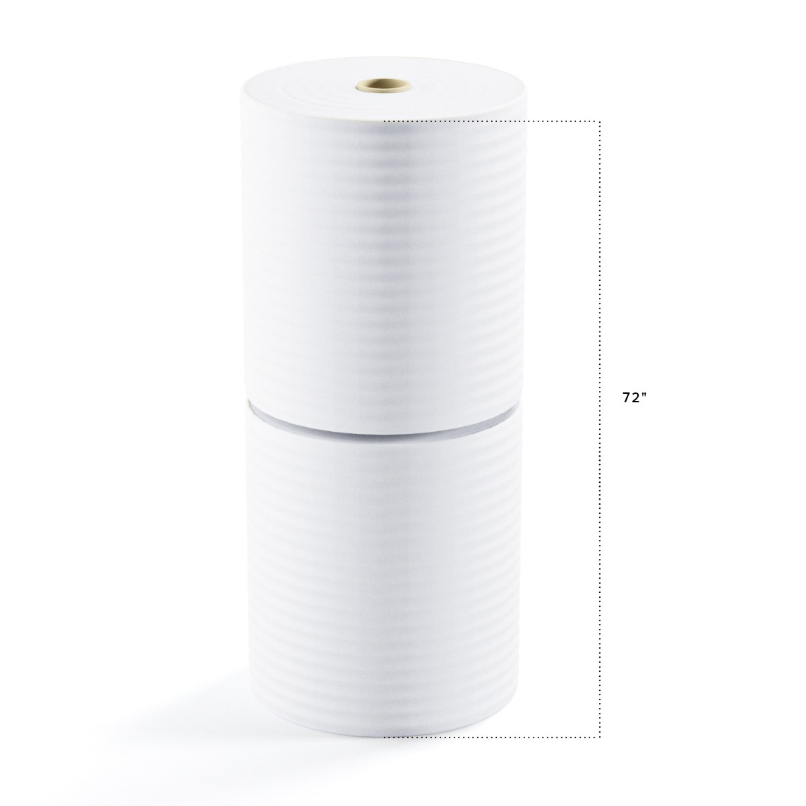 "TOTALPACK® 1/16"" x 36"" x 1250' (No Perforation) Air Foam Rolls, 2 Rolls"
