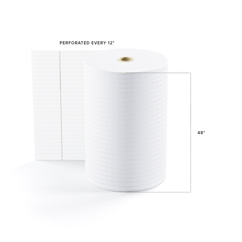 "TOTALPACK® 1/8"" x 48"" x 550' (12) Perforated Air Foam Rolls, 1 Roll"