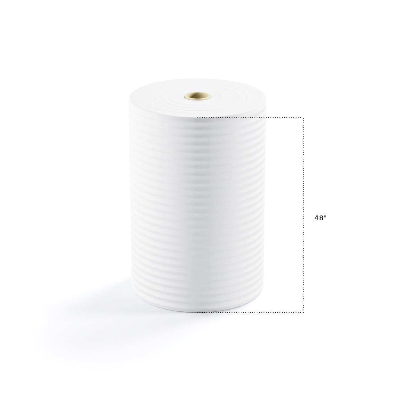 "TOTALPACK® 1/8"" x 48"" x 550' (No Perforation) Air Foam Rolls, 1 Roll"