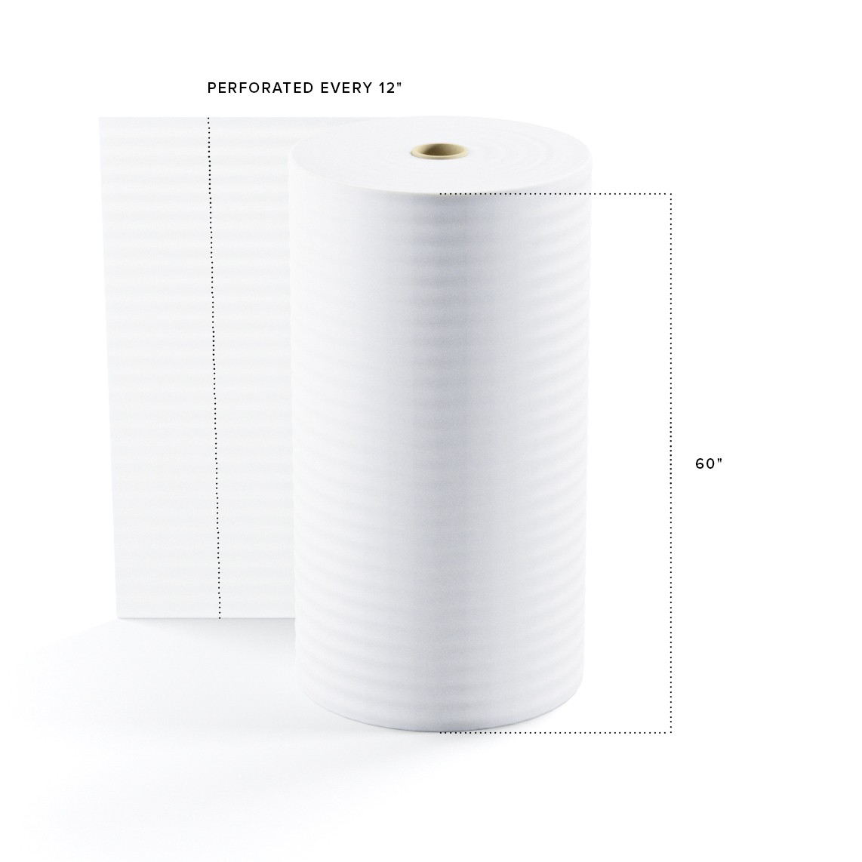 "TOTALPACK® 1/8"" x 60"" x 550' (12) Perforated Air Foam Rolls, 1 Roll"