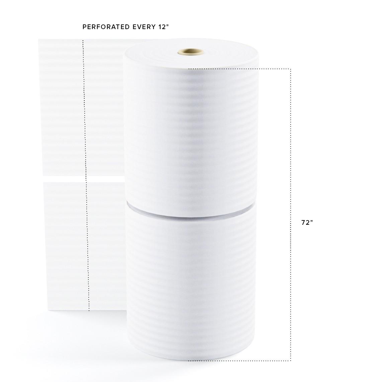"""TOTALPACK® 1/8"""" x 36"""" x 550' (12) Perforated Air Foam Rolls, 2 Rolls"""
