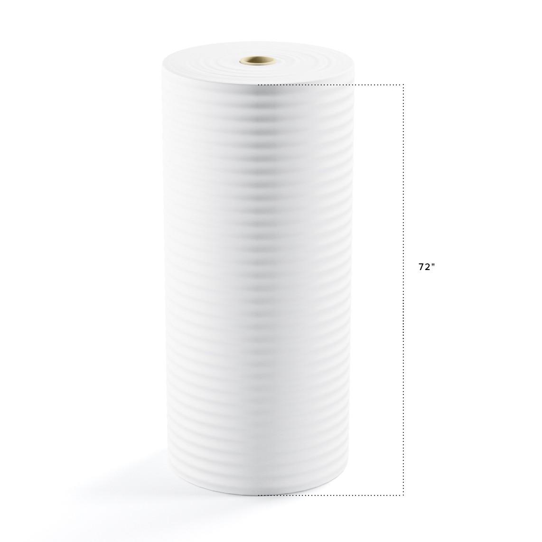 "TOTALPACK® 1/8"" x 72"" x 550' (No Perforation) Air Foam Rolls, 1 Roll"