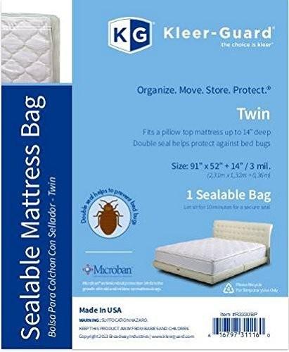 """TOTALPACK® KG Kleer® Guard Mattress Bag 91 x 52 x 14"""", 3 Mil, Twin Mattress, 1 Unit"""