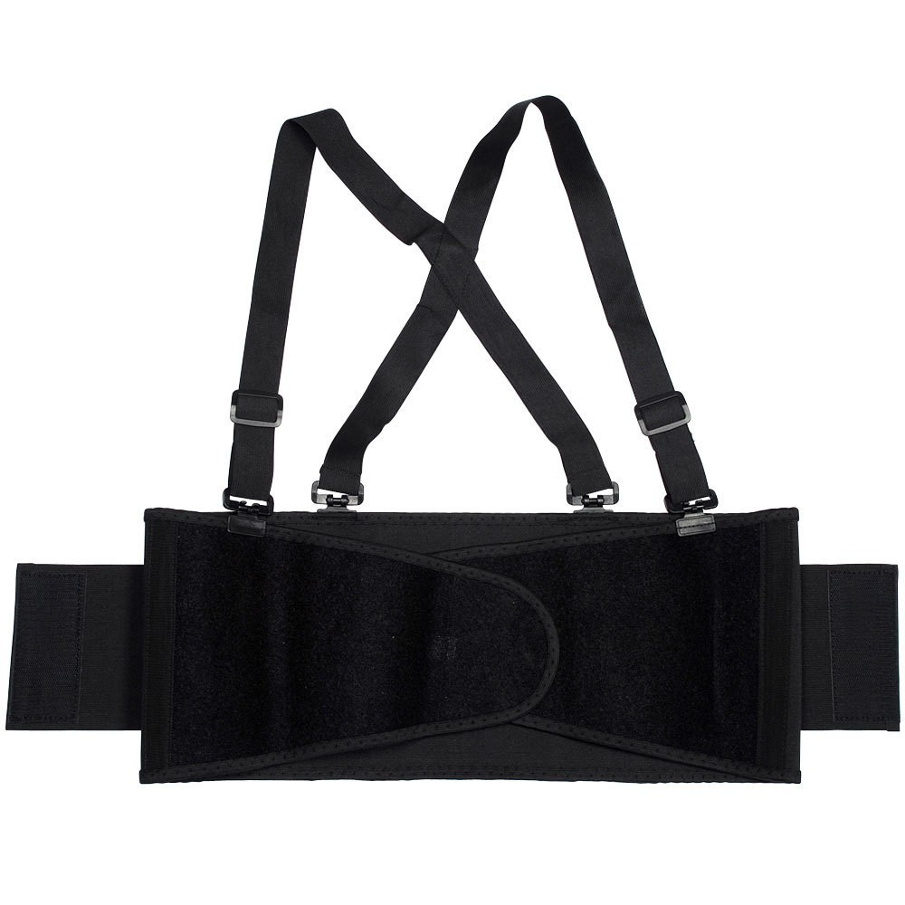 TOTALPACK® Economy Back Support Belt with Suspender - Medium Black, 1 Unit