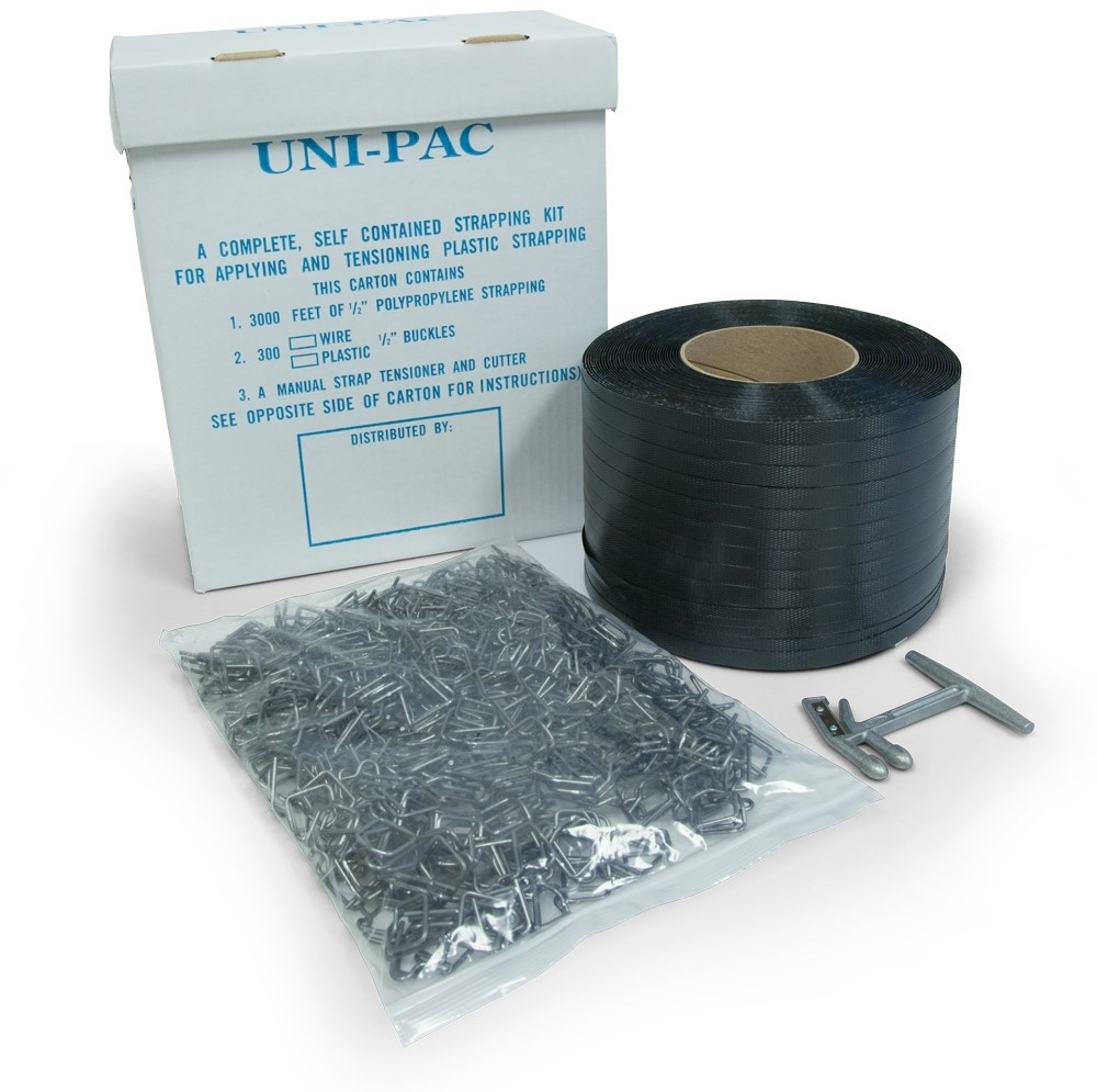 "TOTALPACK® Strapping Kit 1/2"" 3000'  300 Buckles"