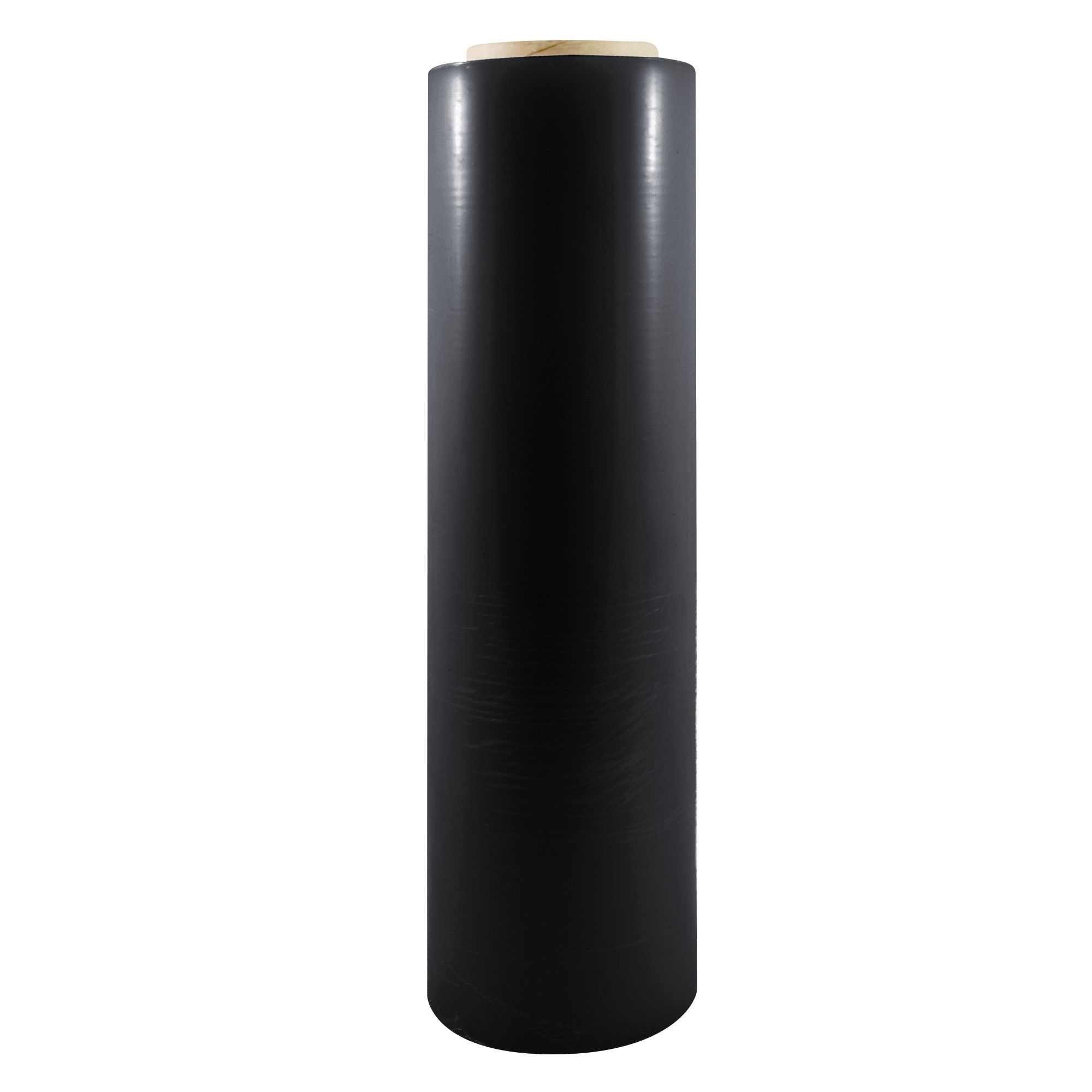 "TOTALPACK® 18"" x 1500' 80 Gauge, 4 Rolls. Gauge Blown Stretch Black Film"