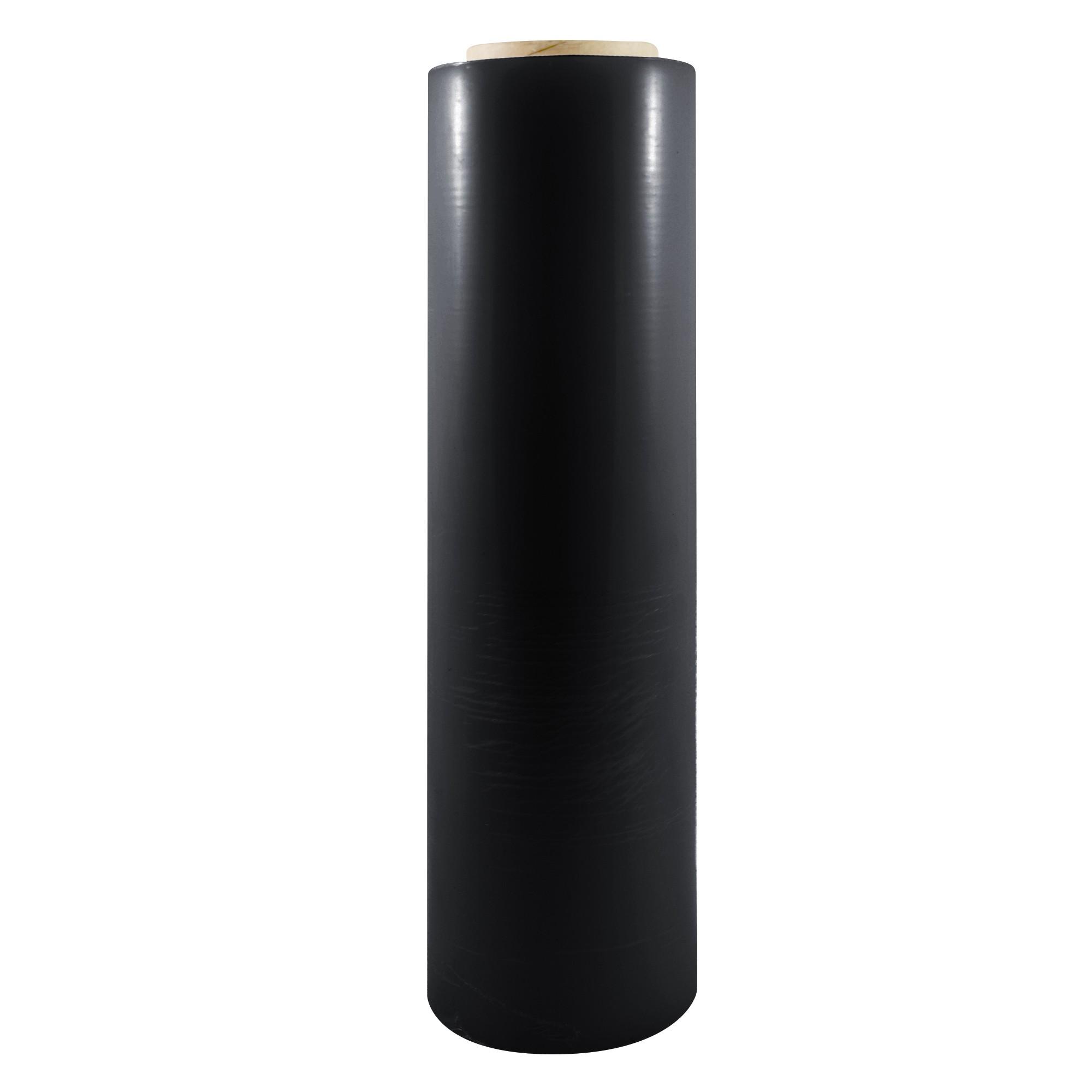 "TOTALPACK® 15"" x 1000' 80 Gauge, 4 Rolls. Gauge Blown Stretch Black Film"