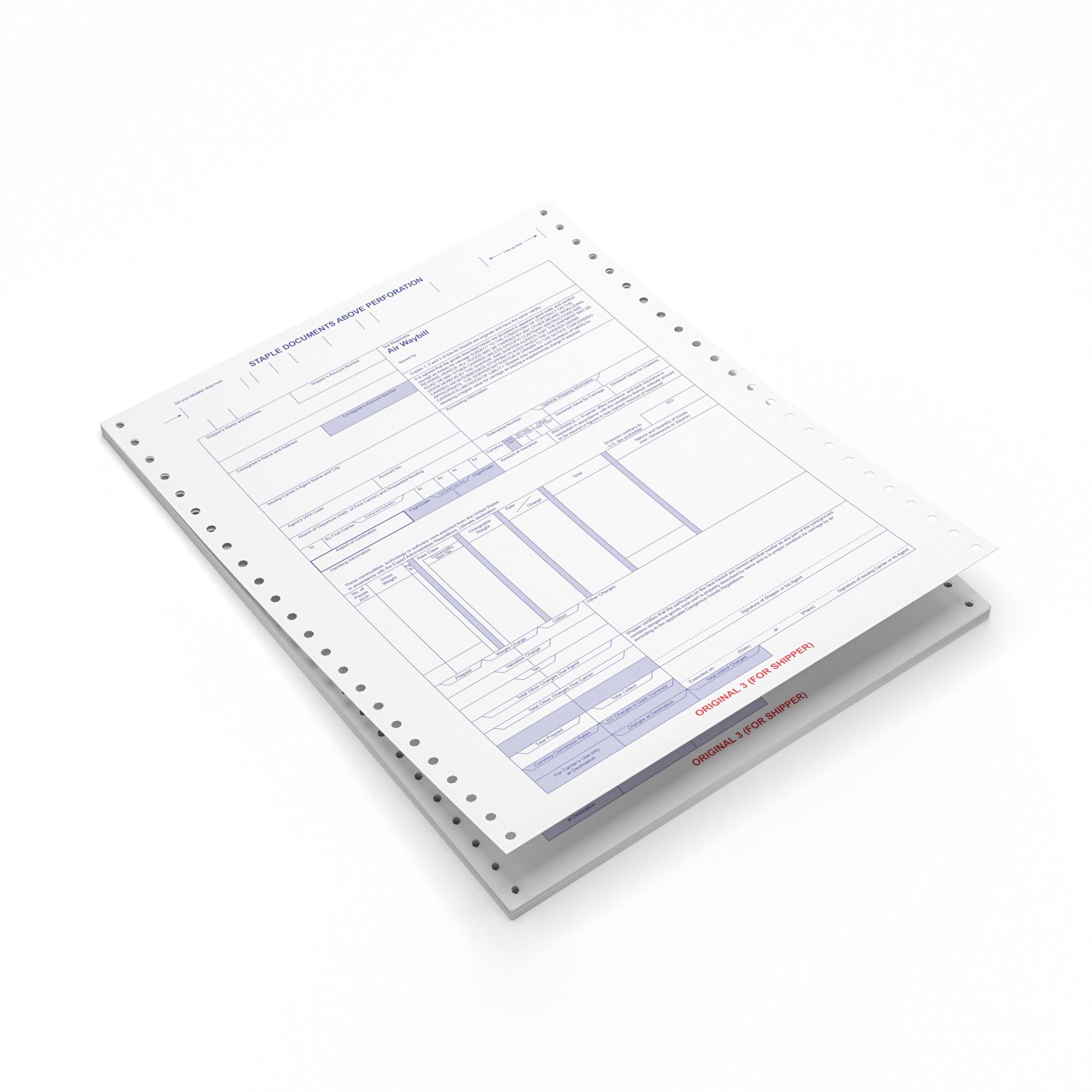 TOTALPACK® Air Waybills 8 Part Continous Form 25 Units