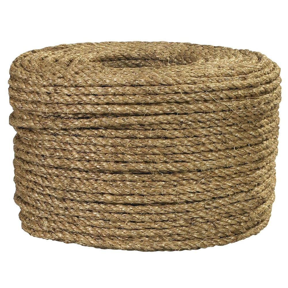 "TOTALPACK® 1/4"", 1200' Length 540 lb, Manila Rope"
