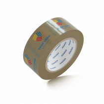 "Custom Packing Tape By TOTALPACK - Tan 2"" x 110 yds. 2.5 Mil, 36 Rolls Per Case"