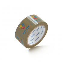 "Custom Packing Tape By TOTALPACK - Tan 2"" x 55 Yds. 2.5 Mil, 36 Rolls Per Case"