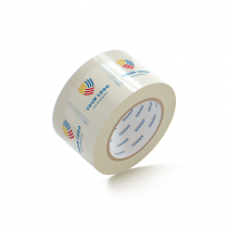 "Custom Packing Tape By TOTALPACK - Clear 3"" x 110 yds. 2.5 Mil, 24 Rolls Per Case"
