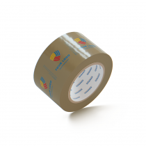 "Custom Packing Tape By TOTALPACK - Tan 3"" x 110 Yds. 2.0 Mil, 24 Rolls Per Case"