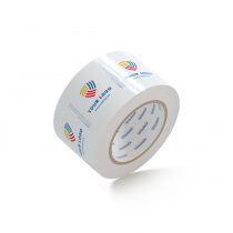 "Custom Packing Tape By TOTALPACK - White 3"" x 110 Yds. 2.5 Mil, 24 Rolls Per Case"