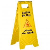 Wet Floor Caution Sign Bilingual