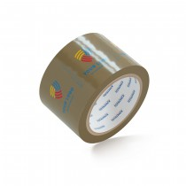 "Custom Packing Tape By TOTALPACK® - Tan  3"" x 55 yds.  2.5 Mil, 36 Rolls Per Case"